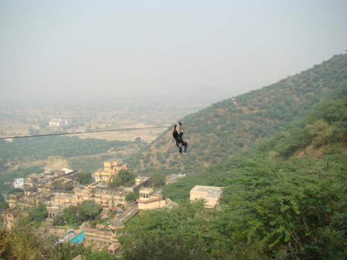 zipping at neemrana